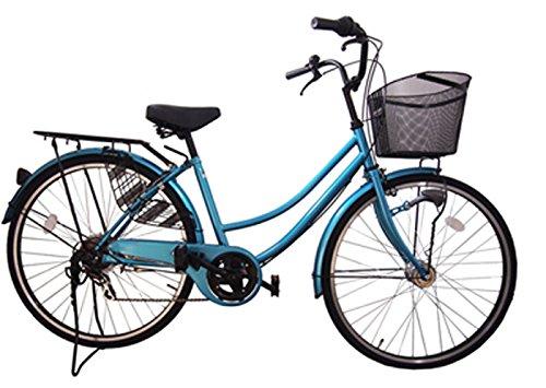 Lupinusルピナス 自転車 26インチ LP-266UA 軽快車 シマノ外装6段ギア オートライト ブラックリム装備 100%完成車 B004H7JZKI ライトブルー ライトブルー