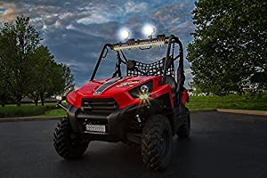 Zone Tech LI0030 4 27W 9 LED Work Light (Round ATV UTV Jeep 4x4 Offroad Flood Light)