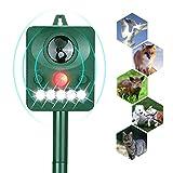 Acidea Solar Animal Repeller, Outdoor Waterproof Ultrasonic Raccoons Repellent with LED Flashing Light