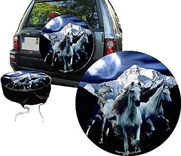 PREMIUM Cubierta de rueda de repuesto Manada de caballo, Cubiertas de neumáticos de repuesto in