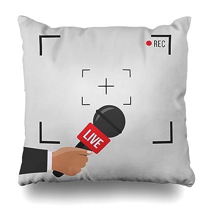 Amazon com: Pandarllin Throw Pillow Cover Digital Broadcast