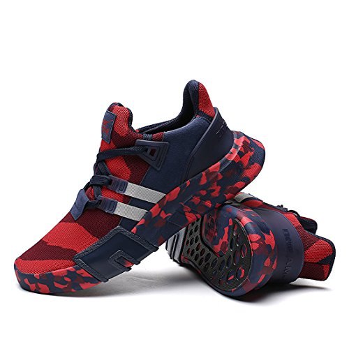 Athletic Red6 Men Oumanke Hiking Jogging Breathable Camo Shoes Sports Running Sneakers Lightweight 7qw1ga