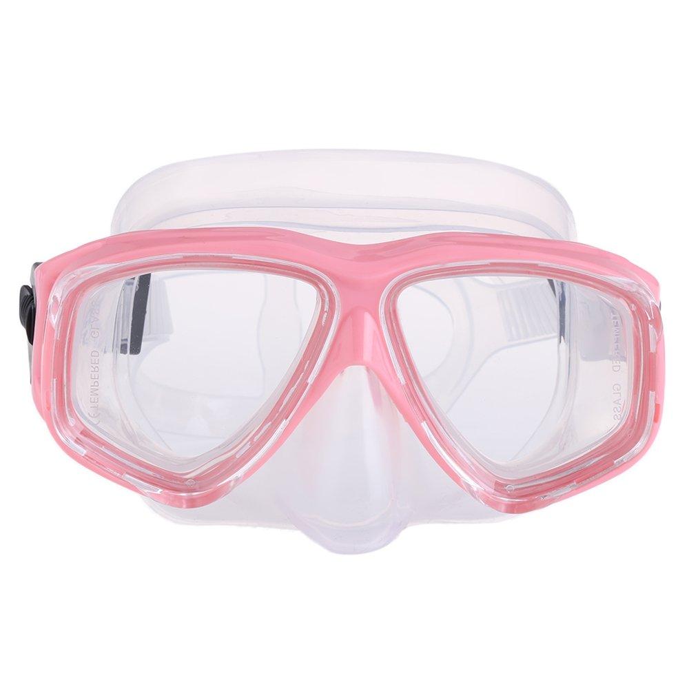 Fjiujin,Masque de plongée en apnée pour Les Sports Nautiques Unisexes(Color:Rose)