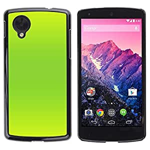 Be Good Phone Accessory // Dura Cáscara cubierta Protectora Caso Carcasa Funda de Protección para LG Google Nexus 5 D820 D821 // Vibrant Neon Green Color Bright