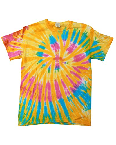 Adult 5.4 oz., 100% Cotton Tie-Dyed T-Shirt (Tie Dyed)