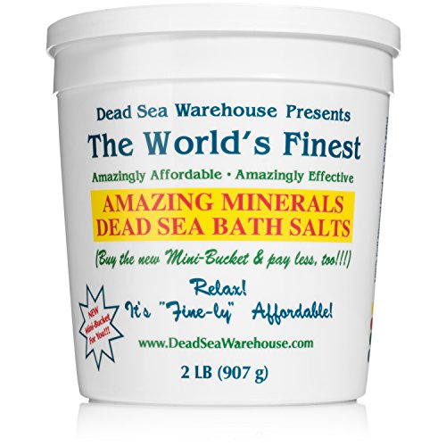 Dead Sea Warehouse - Amazing Minerals Dead Sea Bath Salts, Temporary Relief From Dry Itchy Skin, Aches & Pains, Exfoliates & Moisturizes, 100% Full Mineral (2 - Warehouse Skin