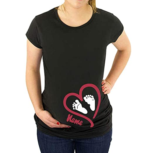 Dsood Pregnancy Sweatshirts Maternity Funny T Shirts Announce Pregnancy Im Pregnant Cute Baby Bump T Shirt