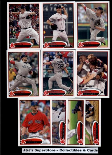 2012 Topps Boston Red Sox MLB Team Set In Ultra Pro Album (Series 1 & 2) -20 Cards - includes Jon Lester, Adrian Gonzalez, Youkilis, Ellsbury, Crawford, Ortiz, Bailey, Pedroia, Matsuzaka, Cody Ross, Beckett Plus More