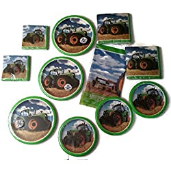 Tractor Time Birthday Party Bundle Plates Napkins Party Kit for 24