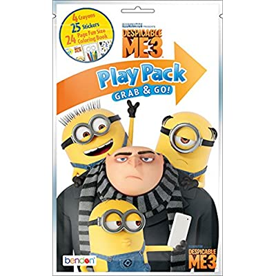 KaleidoQuest Bundle of 12 Illumination's Despicable Me 3 Grab & Go Play Packs: Toys & Games