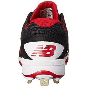New Balance Men's L4040V3 Cleat Baseball Shoe, Black/Red, 13 D US