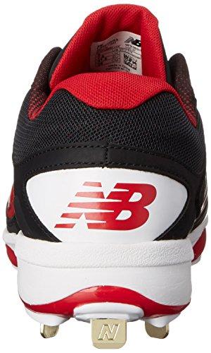 Nuovo Equilibrio Mens Scarpe Da Baseball L4040v3 Tacchetta Nero / Rosso