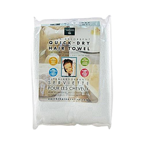 2 Packs of Earth Therapeutics Quick Dry Hair Towel - 1 Piece ()