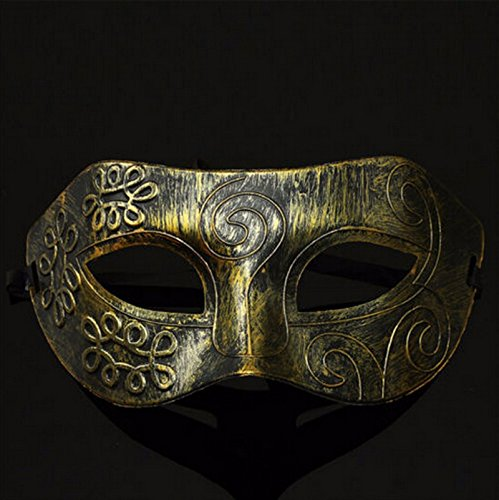 1pc Retro Men Halloween Burnished Antique Gold Venetian Mardi Gras Masquerade Party Ball Mask (Jeepers Creepers Halloween Costume)