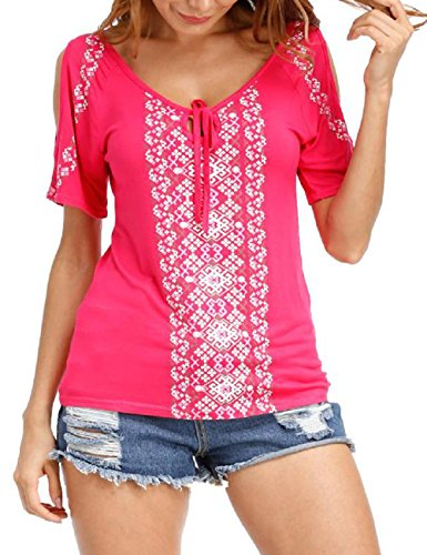 T Hot Pink Shirt ISASSY Donna fOc4SHH6