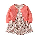 RJXDLT Baby Girls Dresses Lemon Flower Printed