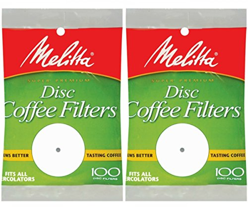 Melitta 3.5 Inch White Disc Coffee Filters (Pack of 2) ()