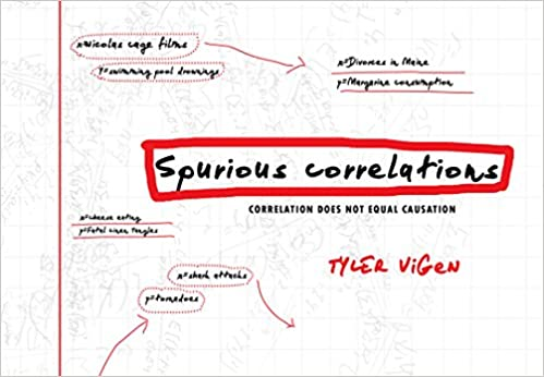 Tyler Vigens Spurious Correlations Blog >> Spurious Correlations Tyler Vigen 9780316339438 Amazon Com Books