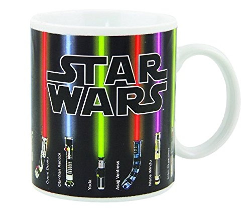 Star Wars Mug, Lightsabers Appear With Heat (12 oz) – Fragile –
