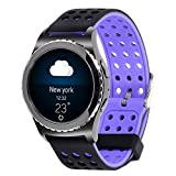 20mm Gear S2 Classic Smart Fitness Watch Band (SM-R732),Silicone Replacement for Samsung Galaxy Gear S2 Classic (Only for Classic Version) (Silincone band-09)