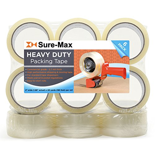 Sure-Max 12 Rolls Heavy-Duty Shipping & Packing Tape (2