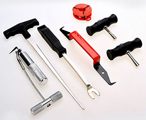 Professional 7PCS Auto Windshield Removal Tool Vehicle Disassembly Maintenance Set Wind Glass Gasket Adhesive Trim Remover - To Remove Home Scratches From Car Glass At How