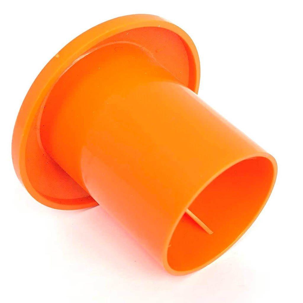 250x Mushroom Rebar Cap - (10M-25M) Rebar Sizes: #3-#7 - Orange Safety Protection (250 PACK)