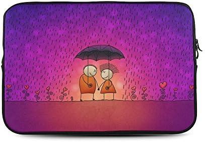 Reign Reina personalizado amor dibujos animados fondo funda para portátil de 15, (dos lados) bolsa de ordenador