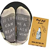 "Funny Wine Socks with Gift Box-""If You can Read This, Bring me a Glass of Wine"""