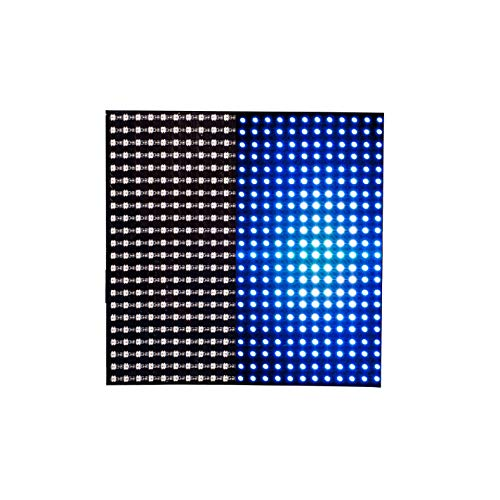 BTF-LIGHTING WS2812B Mini Led 2427 Digital Individually Addressable Flexible LED Panel 22x22 484 Pixels Full Dream Color Lighting DC5V