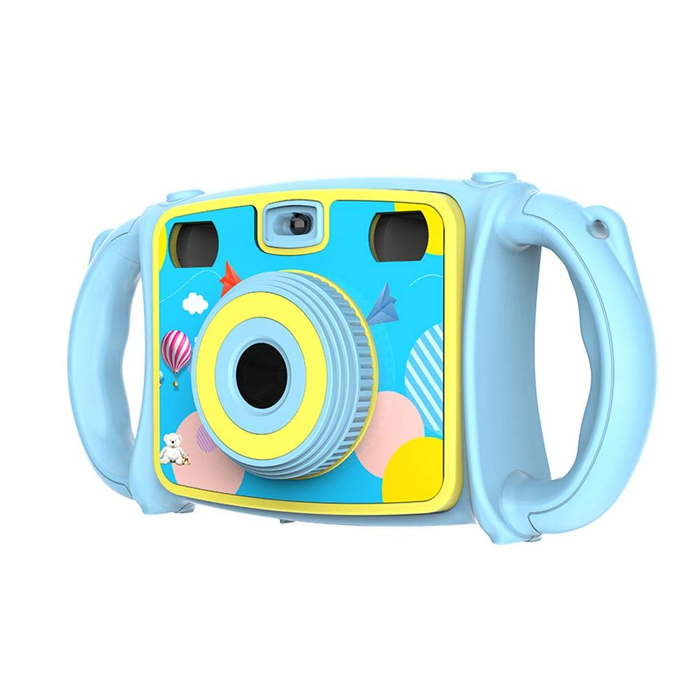 Biback anti-Drop enfants caméra Dual selfie caméra 1080p HD Video Recorder garçons filles cadeaux 2,0'écran LCD avec zoom numérique 4x et jeu drôle Rose