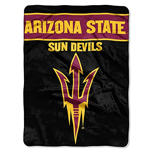 The Northwest Company Officially Licensed NCAA Arizona State University Basic Raschel Throw Blanket, 60