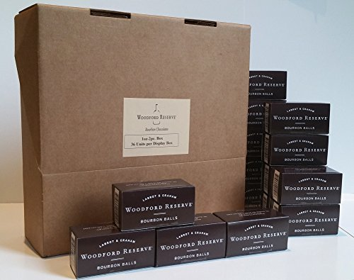 Case of 36 Woodford Reserve Bourbon Balls 2 pc Gift Boxes (72 candies) - Chocolate Bourbon Balls