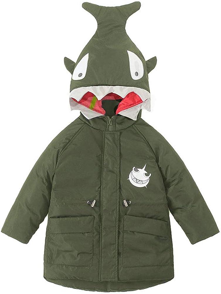 Invernale Cappotto Cappuccio Bambina Ragazzo Outwear Shark ...