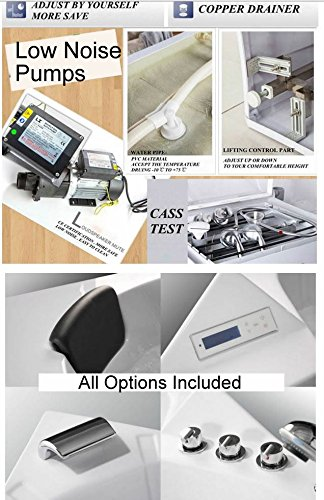 2 Person Whirlpool Massage Hydrotherapy White Corner Bathtub Tub with BLUETOOTH, Remote Control, Inline Water Heater, and Shower Wand
