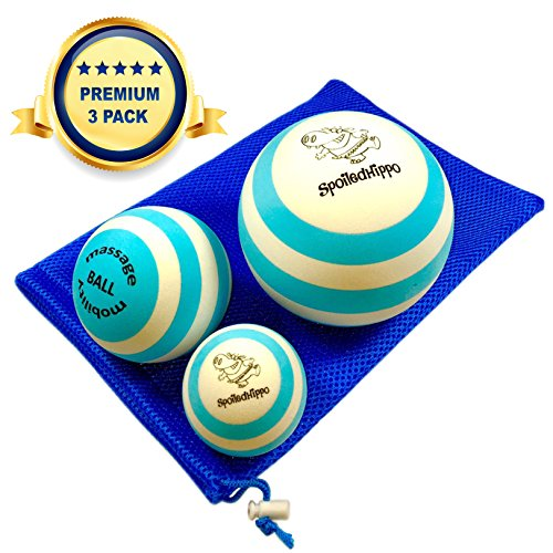 Massage Ball 3 Set Deep Tissue Massage Therapy, Myofascial Release, Trigger Point Massager Muscle Pain Relief, Muscle Knots Foam Ball, Self Massage Physical Therapy Ball