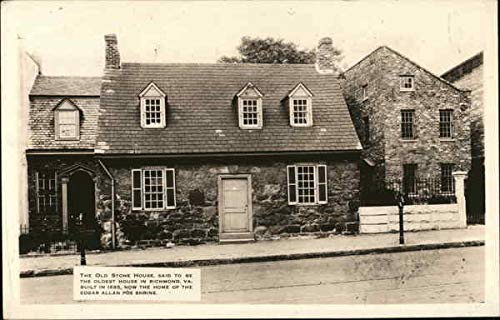The Old Stone House Richmond, Virginia Original Vintage Postcard