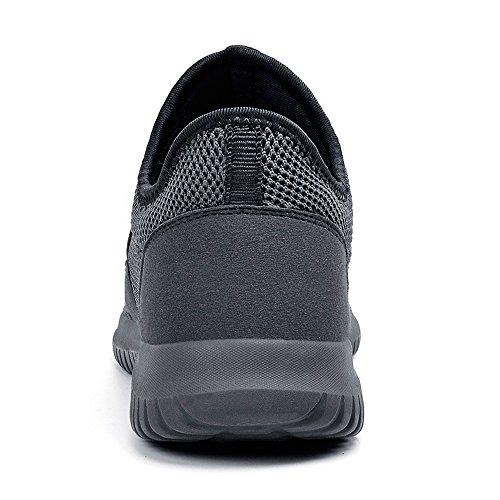 per da Sneakers Grigio ZOCAVIA Sportive Senza Lacci Uomo Correre Scuro Scarpe HnnOq0