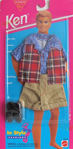 Barbie KEN In Style Fashions Looking Cool! - Easy To Dress (1995 Arcotoys, Mattel)