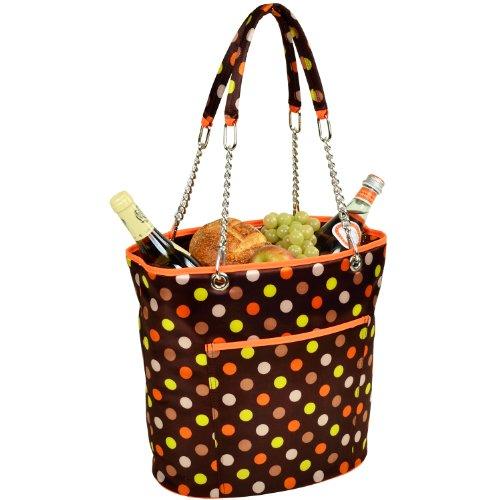 Picnic Dots - Picnic at Ascot Large Insulated Fashion Cooler Bag - 22 Can Tote - Julia Dot