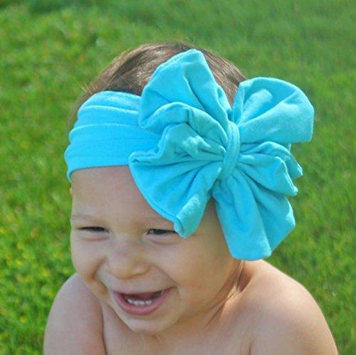 Amazon.com  Baby Bow Headband - Turquoise Floppy Bow - Messy Bow Head Wrap  - Big Teal Bow  Handmade 3e5807b0486