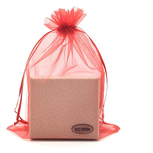 Red Bags Bow Gift Jewelry - SUNGULF 100pcs Organza Pouch Bag Drawstring 6