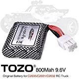 TOZO 15-DJ02 Battery 9.6V 800mAh for C2035 C2031 C2032 RC CAR Part ( 1pcs )
