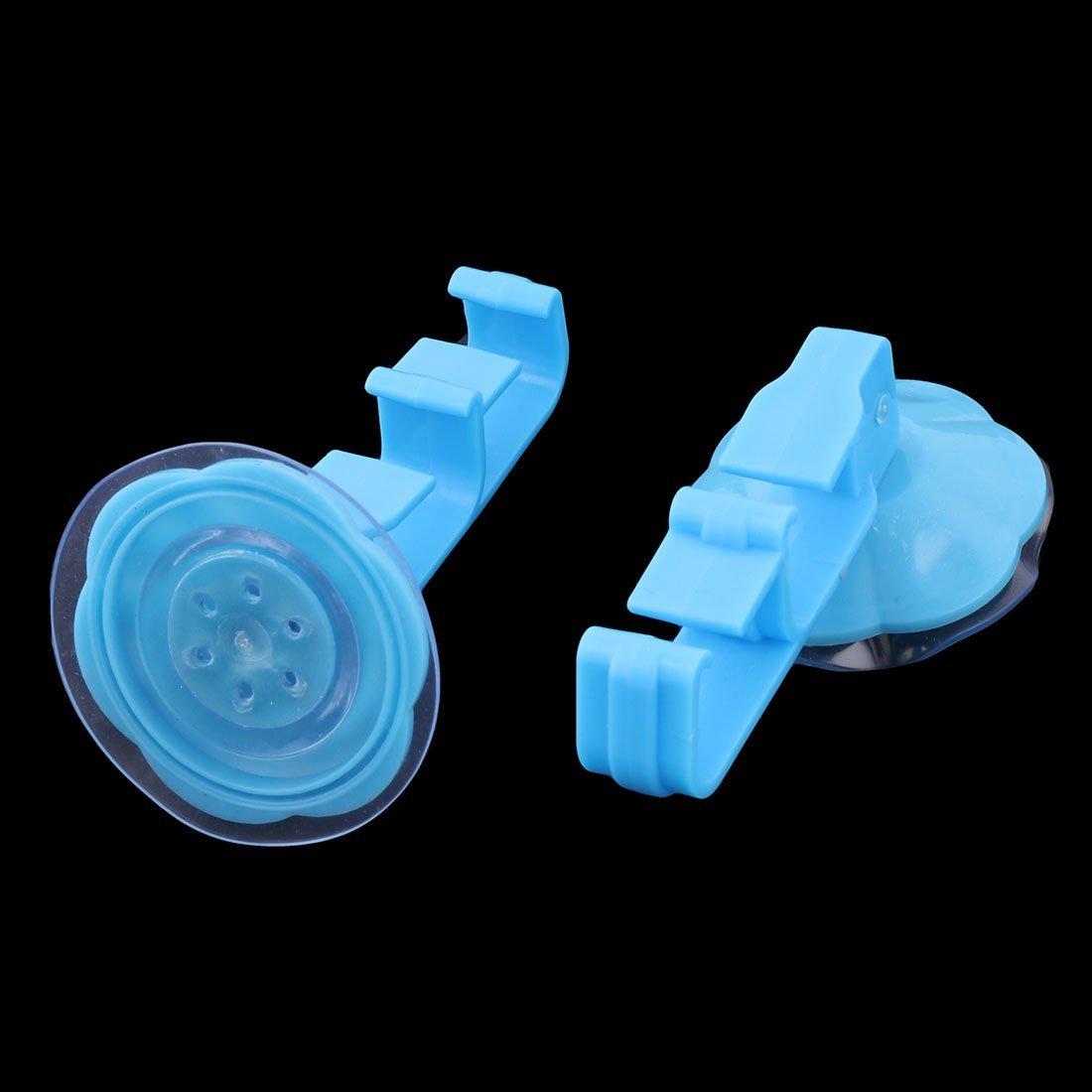 eDealMax plástico Inicio Ropa de baño toalla colgar en la pared de la Copa succión de la suspensión de gancho 2pcs Azul - - Amazon.com