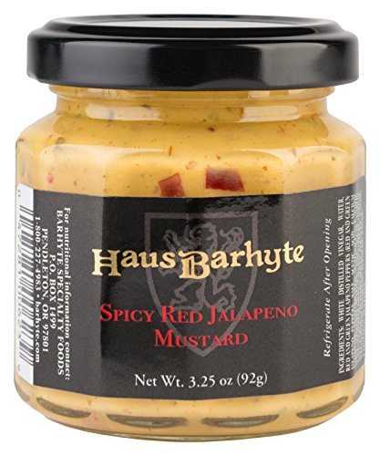 Haus Barhyte Spicy Red Jalapeno Mustard, 3.25 Ounce Glass...