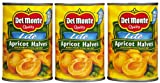 #7: Del Monte Lite Unpeeled Apricot Halves in Extra Light Syrup, 15 oz, 3 pk