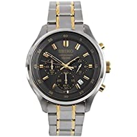 Seiko SKS591 Chronograph Black Dial Two-tone Mens Watch