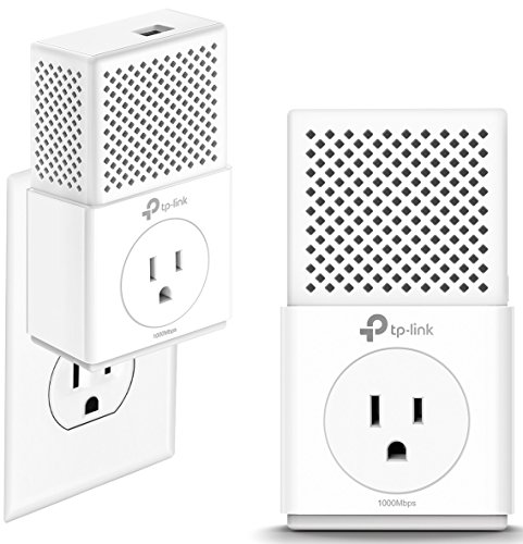 TP-Link AV1000 Powerline Adapter - Gigabit Port, Plug&Play, Noise Filtering(TL-PA7010P KIT)