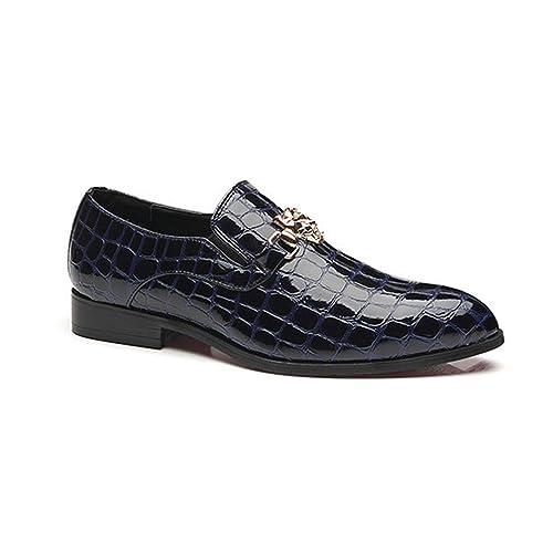 14344a6142f77 Chaussure en Cuir d affaire pour Homme Soulier en Motif de Crocodile  Chaussure de Ville