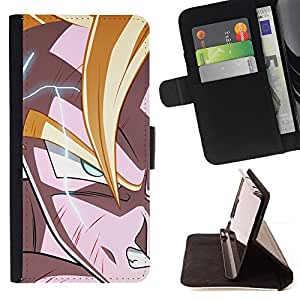 KingStore / Leather Etui en cuir / Samsung Galaxy Note 3 III / Anime Dragon Z